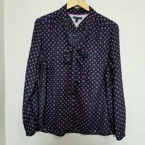 tommy hilfiger purple blouse